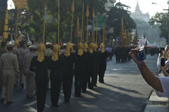Religiös procession i Thailand Fotografering för Bildbyråer