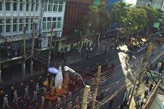 Religiös procession i Thailand Royaltyfri Bild