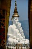 Religiös statybuddism i Thailand Royaltyfria Foton
