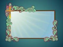 Religiös text för ram Fotografering för Bildbyråer