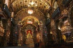 Religiös turism i Rio de Janeiro Downtown arkivbild