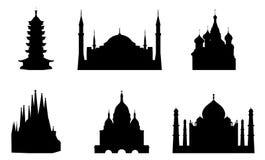 religiösa byggnader royaltyfri illustrationer
