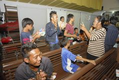 RELIGIÖSA MINORITETER AV INDONESIEN Arkivbild