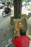 RELIGIÖSA MINORITETER AV INDONESIEN Arkivfoto