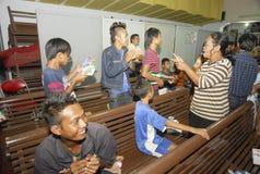 RELIGIÖSA MINORITETER AV INDONESIEN Fotografering för Bildbyråer