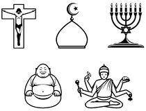 religiösa symboler Arkivfoto