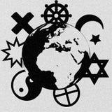 Religiösa symboler vektor illustrationer