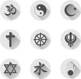 religiösa symboler royaltyfri illustrationer