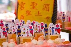 Religiösa troar för traditionell kines, offerings, humanoidkort fotografering för bildbyråer