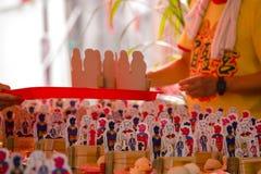 Religiösa troar för traditionell kines, offerings, humanoidkort royaltyfri fotografi