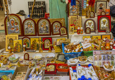 Religiöse Andenken-Ikonen-Kirchen-heiliges Grab Jerusalem Israel Lizenzfreie Stockfotografie