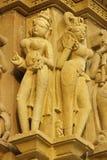 Religiöse Figuren bei Khajuraho Stockbilder