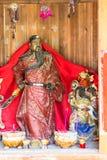Religiöse Figuren in Chengyang-Dorf Stockbild