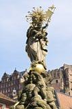 Religiöse Grafik und Schloss von Heidelberg Lizenzfreies Stockbild