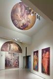 Religiöse Malereien in der mittelalterlichen Kunsthalle Stockfotos