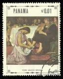 Religiöse Malereien von Ford Madox Brown stockbilder