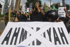 RELIGIÖSE MINDERHEITEN VON INDONESIEN Stockfotos