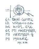 Religiöse Phrase in der spanischen Illustration Lizenzfreies Stockbild