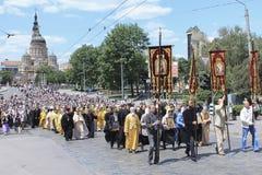 Religiöse Prozession auf der Dreiheit Lizenzfreies Stockfoto
