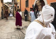 Religiöse Prozession Ostern Lizenzfreie Stockfotografie