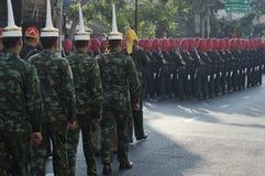 Religiöse Prozession in Thailand Stockbild