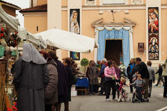 Religiöse Sonntag Nachmittag Landschaft Lainate Lizenzfreie Stockfotos