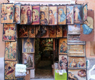 Religiöser Souvenirladen Stockfotos