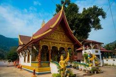 Religiöses Gebäude in Laos stockbild