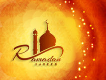 Religiöses Ramadan-kareem Hintergrunddesign Stockbilder