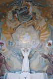 Religiöses Wandgemälde stockfotografie