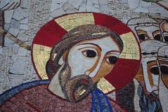 Religiöses Wandgemälde Stockfotos