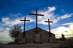 Religiöst byggnadskors Royaltyfri Foto