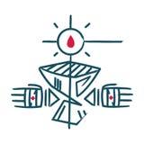 Religiöst Christian Eucharist symbol royaltyfri illustrationer