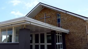 Religiöst kapell eller begravningsbyrå för begravnings- service lager videofilmer