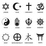 Religiöst tecken och symboler Royaltyfria Bilder