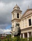 Religia i historia z kościelnymi Porto Maurizio Imperia fotografia stock