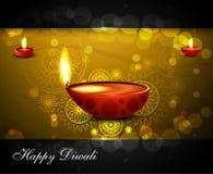 Religieux éclatant de diwali de festival indou heureux de diya beau Image libre de droits