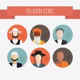 Religii ikon ludzie Obrazy Royalty Free