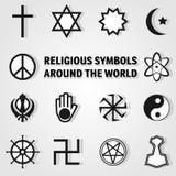 Religii ikony set Obraz Royalty Free