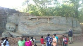 Religijna Budhism wizyta Anuradhapura Srilanka Fotografia Stock