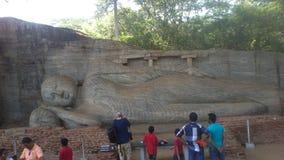 Religijna Budhism wizyta Anuradhapura Srilanka fotografia royalty free