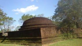 Religijna Budhism wizyta Anuradhapura Srilanka obraz royalty free