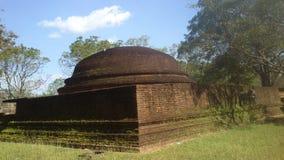 Religijna Budhism wizyta Anuradhapura Srilanka obrazy royalty free