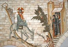 Religijna mozaika. Nowy Jerozolima w grodzkim Istra Fotografia Royalty Free