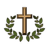 Religijna przecinająca ikona ilustracji