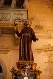 Religijna statua przy Fontana Gozo Malta Zdjęcia Stock