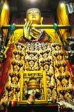 Religijna statua w Drepung monasterze Zdjęcia Royalty Free