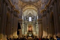Religijni ludzie w kościół Obrazy Royalty Free