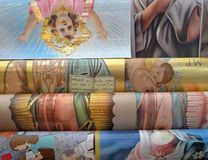 Religijni plakaty Fotografia Stock