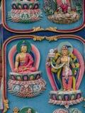 Religijni symbole w Nepal, powierzchowność Fotografia Stock